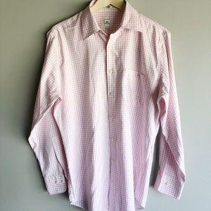 Peter Millar Nanoluxe L/S Pink White Button Down